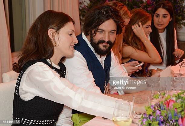 Ben Grimes and Tom Craig attend a dinner hosted by Jo Malone London and Tallulah Harlech to launch the 'Just Because' campaign on January 13 2015 in...