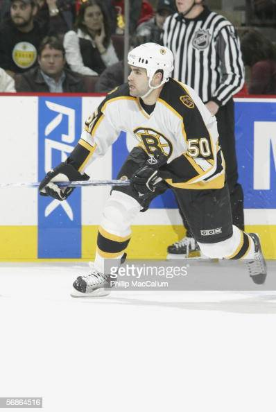 Ben Guite of the Boston Bruins skates against the Ottawa Senators during their NHL game on January 30 2006 at the Scotiabank Place in Ottawa Canada...