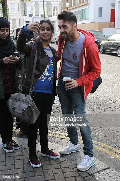 Ben Haenow arriving at a recording studio on November 24 2014 in London England