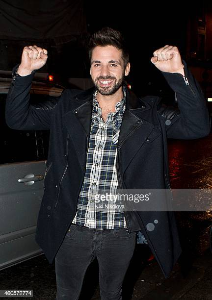 Ben Haenow is seen arriving at the Press night Club Soho on December 16 2014 in London England