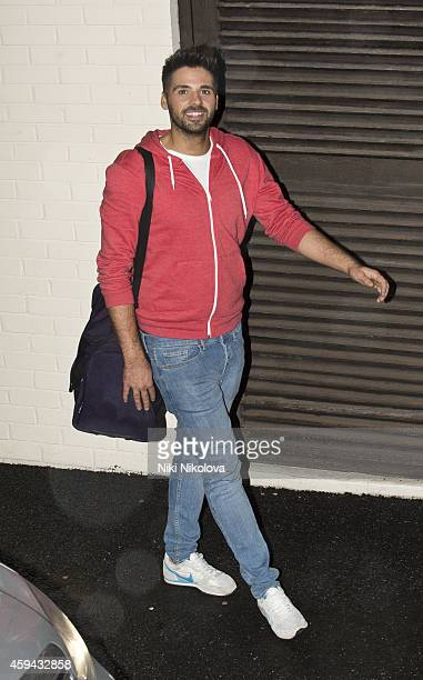 Ben Haenow is seen leaving 'The X Factor' held at Fountain Studios Wembley on November 22 2014 in London England