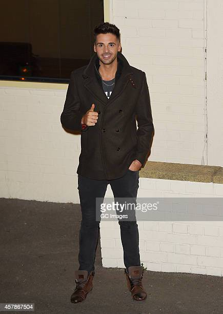 Ben Haenow leaves the X Factor studio on October 25 2014 in London England