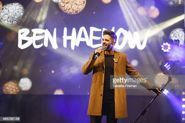 Ben Haenow perfroms during The World Famous Oxford Street Christmas Lights Switch On Event taking place at the Pandora Flagship Store on November 1...