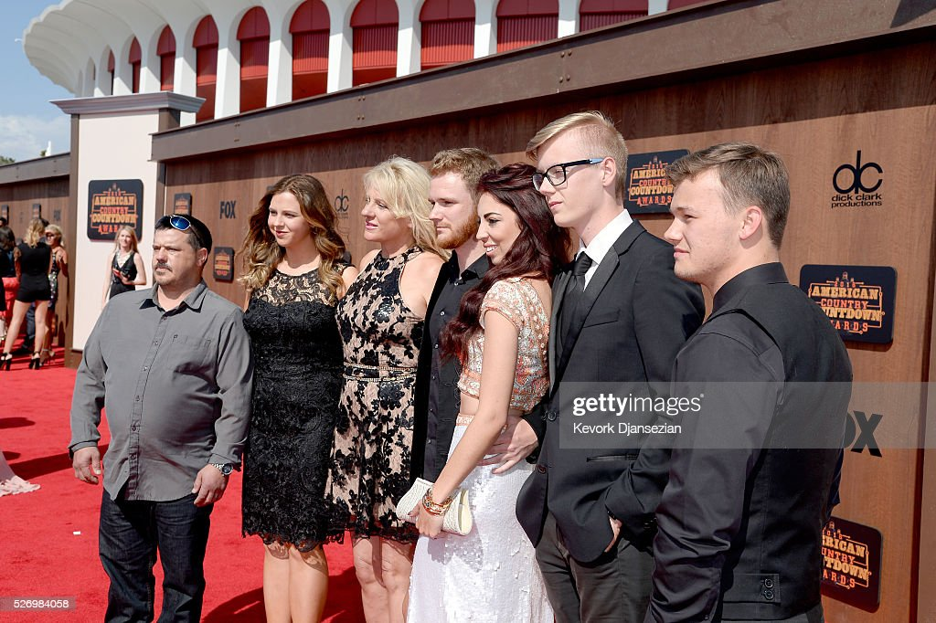 Ben Haggard (center) accompanied by The Haggard family attends the 2016 American Country Countdown Awards at The Forum on May 1, 2016 in Inglewood, California.