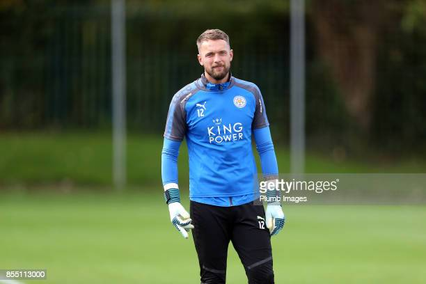 Ben Hamer during the Leicester City training session at Belvoir Drive Training Complex on September 28 2017 in Leicester United Kingdom