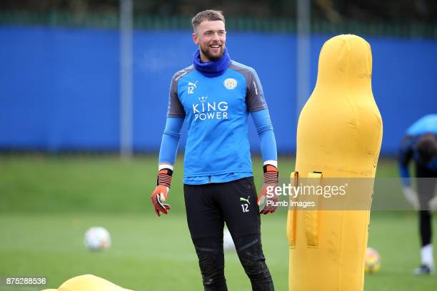 Ben Hamer during the Leicester City training session at Belvoir Drive Training Complex on November 17 2017 in Leicester United Kingdom