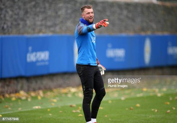 Ben Hamer during the Leicester City training session at Belvoir Drive Training Complex on November 22 2017 in Leicester United Kingdom