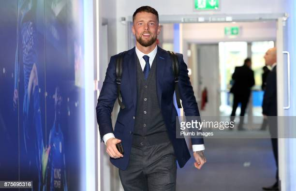 Ben Hamer of Leicester City arrives prior to kickoff during the Premier League match between Leicester City and Manchester City at The King Power...