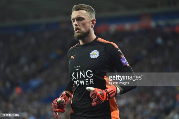 Ben Hamer of Leicester City during the Carabao Cup fourth round match between Leicester City and Leeds United at The King Power Stadium on...