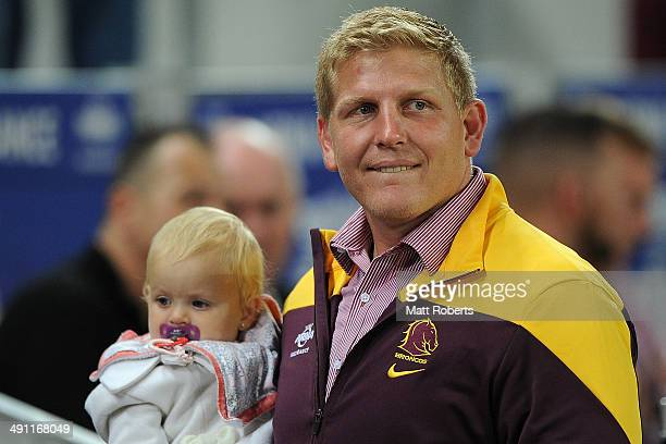 Ben Hannant of the Broncos looks on before the round 10 NRL match between the Brisbane Broncos and the Gold Coast Titans at Suncorp Stadium on May 16...