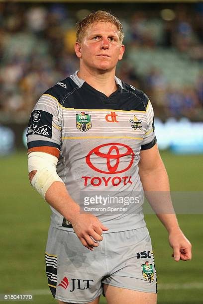 Ben Hannant of the Cowboys looks dejected after losing the round two NRL match between the Parramatta Eels and the North Queensland Cowboys at Pirtek...