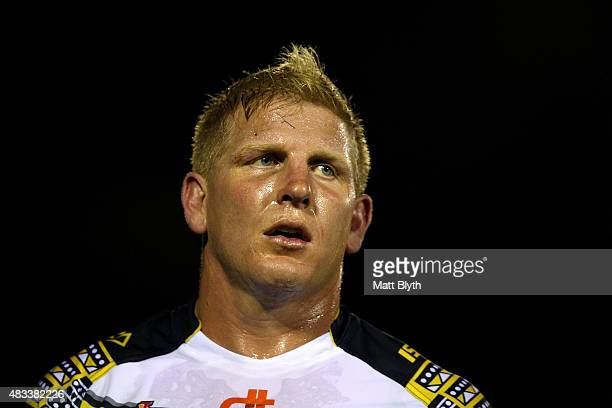 Ben Hannant of the Cowboys looks on during the round 22 NRL match between the Cronulla Sharks and the North Queensland Cowboys at Remondis Stadium on...