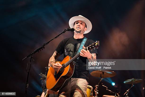 Ben Harper from Ben Harper and the Innocent Criminals performs at AccorHotels Arena on October 14 2016 in Paris France