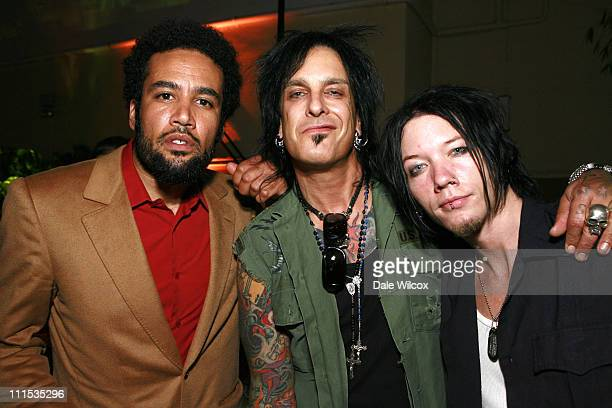 Ben Harper Nikki Sixx and DJ Ashba during Molly Sims 4th Annual Night with the Friends of El Faro at The Music Box Henry Fonda Theatre in Hollywood...