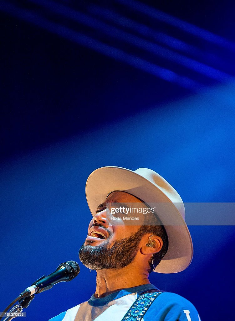Ben Harper performs on stage during a concert in the Rock in Rio Festival on September 20 2013 in Rio de Janeiro Brazil