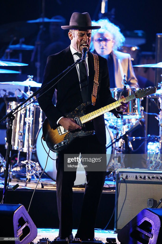 Ben Harper performs onstage during the 56th GRAMMY Awards held at Staples Center on January 26 2014 in Los Angeles California