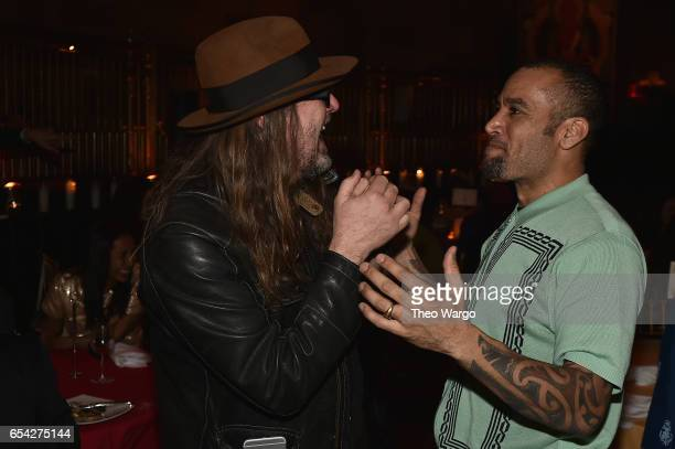 Ben Harper poses with a guest at the after party for the Tibet House US 30th Anniversary Benefit Concert Gala to celebrate Philip Glass's 80th...