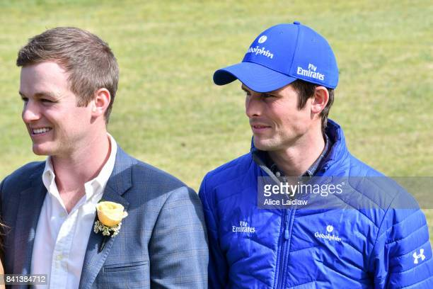 Ben Hayes and James Cummings at the Spring Racing Carnival Launch at Greenfields on September 01 2017 in Albert Park Australia