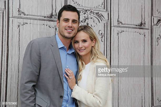 Ben Higgins and Lauren Bushnell discuss 'The Bachelor' at AOL Studios in New York on March 15 2016 in New York City