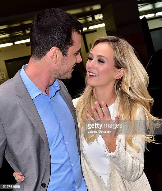 Ben Higgins and Lauren Bushnell leave the AOL Build Speaker Series at AOL Studios on March 15 2016 in New York City