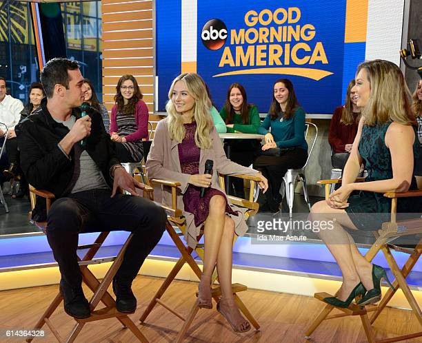 AMERICA Ben Higgins and Lauren Bushnell of the Freeform series 'Ben Lauren Happily Ever After' drop by GOOD MORNING AMERICA 10/10/16 airing on the...