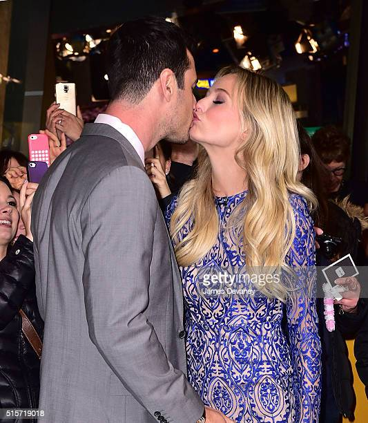 Ben Higgins and Lauren Bushnell visit ABC's 'Good Morning America' in Times Square on March 15 2016 in New York City