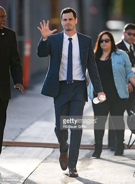 Ben Higgins is seen at 'Jimmy Kimmel Live' on March 14 2016 in Los Angeles California