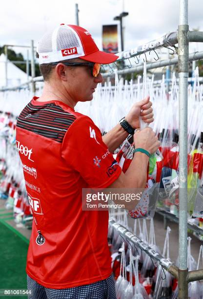 Ben Hoffman is seen in the transition area before the IRONMAN World Championship on October 13 2017 in Kailua Kona Hawaii