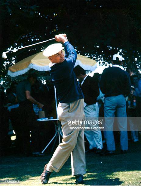 Ben Hogan shows off his form in warmups at the Thunderbird Classic on June 6 1962 in Clifton New Jersey