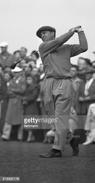 Ben Hogan's confident smile soon turned to sportsmanlike disappointment at the 24th Los Angeles Open Golf Tournament Jan 18 when he lost the playoff...