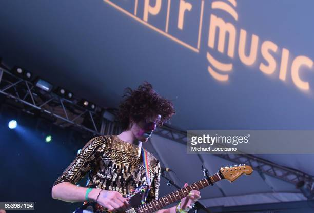 Ben Hopkins of PWR BTTM performs at the NPR showcase during 2017 SXSW Conference and Festivals at Stubbs on March 15 2017 in Austin Texas