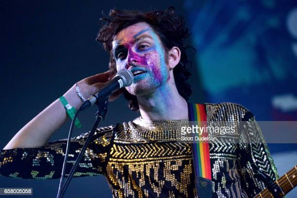 Ben Hopkins of the band PWR BTTM performs onstage during the NPR SXSW Showcase at Stubbs BBQ on March 15 2017 in Austin Texas