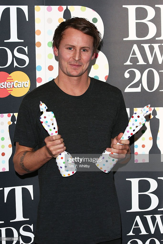 Ben Howard poses with his British Breakthrough and British Male Solo Artist awards in the press room at the Brit Awards 2013 at the 02 Arena on February 20, 2013 in London, England.