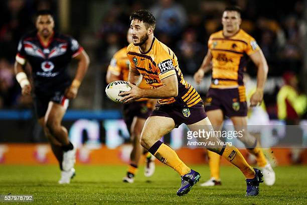Ben Hunt of the Broncos in action during the round 13 NRL match between the New Zealand Warriors and the Brisbane Broncos at Mt Smart Stadium on June...