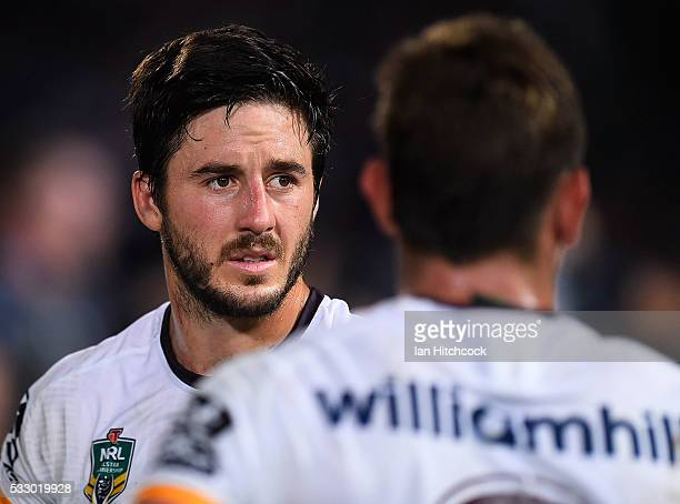 Ben Hunt of the Broncos looks on after losing the round 11 NRL match between the North Queensland Cowboys and the Brisbane Bronocs at 1300SMILES...
