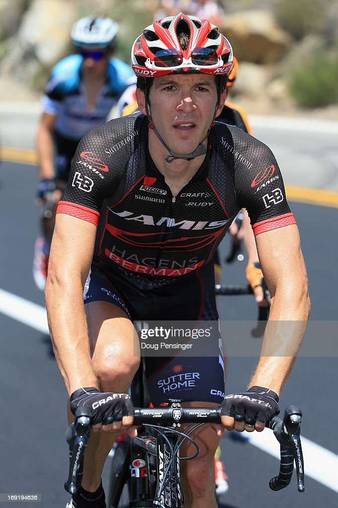 Ben Jacques-Maynes riding for Jamis-Hagens Berman rides in the breakaway during Stage Two of the 2013 Amgen Tour of California from Murrieta to Palm Springs on May 13, 2013 in Palm Springs, California.