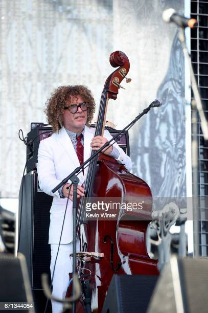Ben Jaffee of the Preservation Hall Jazz Band performs on the Coachella Stage during day 1 of the 2017 Coachella Valley Music Arts Festival at the...