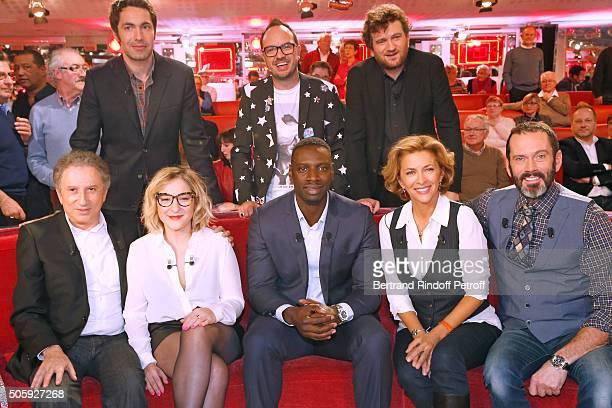 Ben Jarry Olivier de Benoist Michel Drucker Marilou Berry Main Guest of the show Omar Sy Corinne Touzet and Christian Vadim attend the 'Vivement...