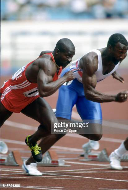 Ben Johnson of Canada competes in the Games of the XXIV Olympiad at the 1988 Summer Olympics circa 1988 in Seoul South Korea