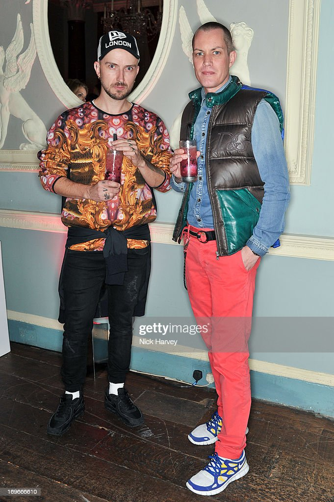 Ben Jones and John Murphy attends the Juicy Couture Fall 2013 Party at Home House on May 30, 2013 in London, England.
