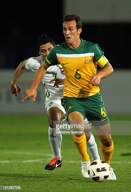 Ben Kantarovski of Australia controls the ball during the third round 2012 Olympic Games Asian Qualifier match between Australia and Iraq at...