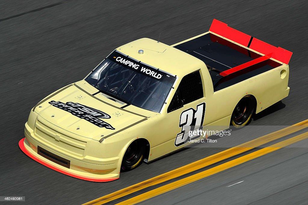 Ben Kennedy drives the #31 Turner Scott Motorsports Chevrolet during NASCAR Preseason Thunder at Daytona International Speedway on January 13, 2014 in Daytona Beach, Florida.