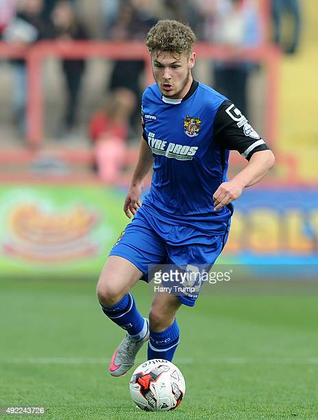 Ben Kennedy of Stevenage in action during the Sky Bet League Two match between Exeter City and Stevenage at St James Park on October 11 2015 in...