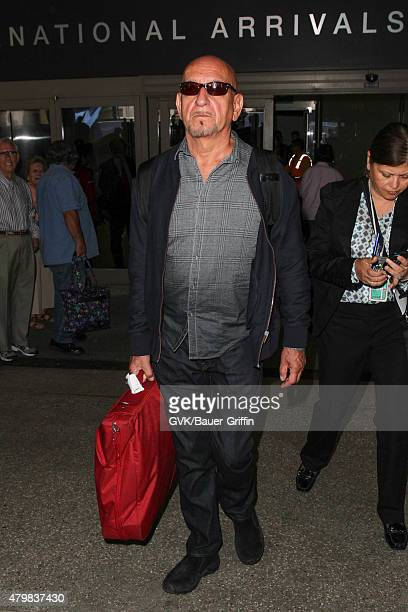 Ben Kingsley is seen at LAX on July 07 2015 in Los Angeles California