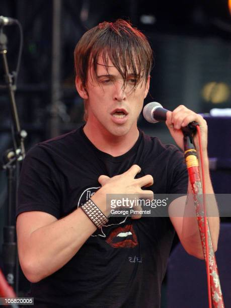 Ben Kowalewicz of Billy Talent during Intimate Interactive with Billy Talent June 28 2006 at Chum City Building in Toronto Ontario Canada