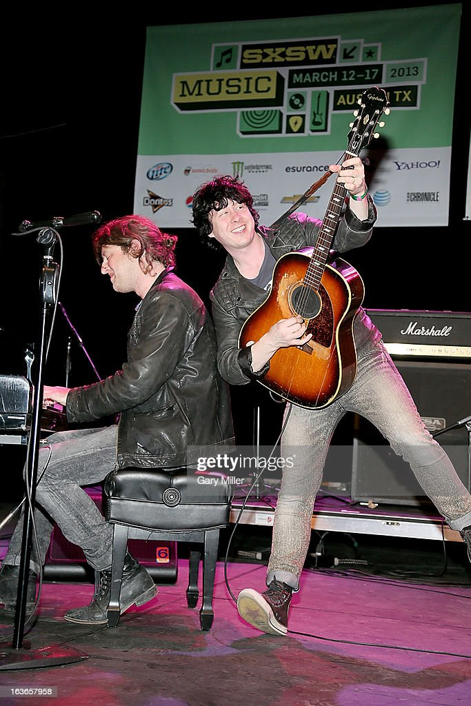 <a gi-track='captionPersonalityLinkClicked' href=/galleries/search?phrase=Ben+Kweller&family=editorial&specificpeople=220316 ng-click='$event.stopPropagation()'>Ben Kweller</a> (R) performs in concert for the Austin Music Awards at the Austin Music Hall during the South By Southwest Music Festival on March 13, 2013 in Austin, Texas.
