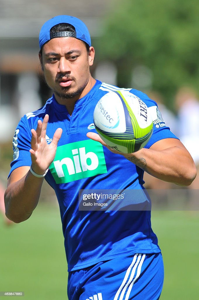 Ben Lam during during the Auckland Blues training session at Bishops Diocesan College on February 19 2015 in Cape Town South Africa