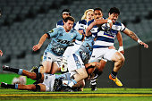 Ben Lam of Auckland makes a break during the round eight ITM Cup match between Auckland and Northland at Eden Park on October 3 2015 in Auckland New...