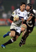 Ben Lam of Auckland runs the ball during the ITM Cup round one match between Hawke's Bay and Auckland at McLean Park on August 23 2012 in Napier New...