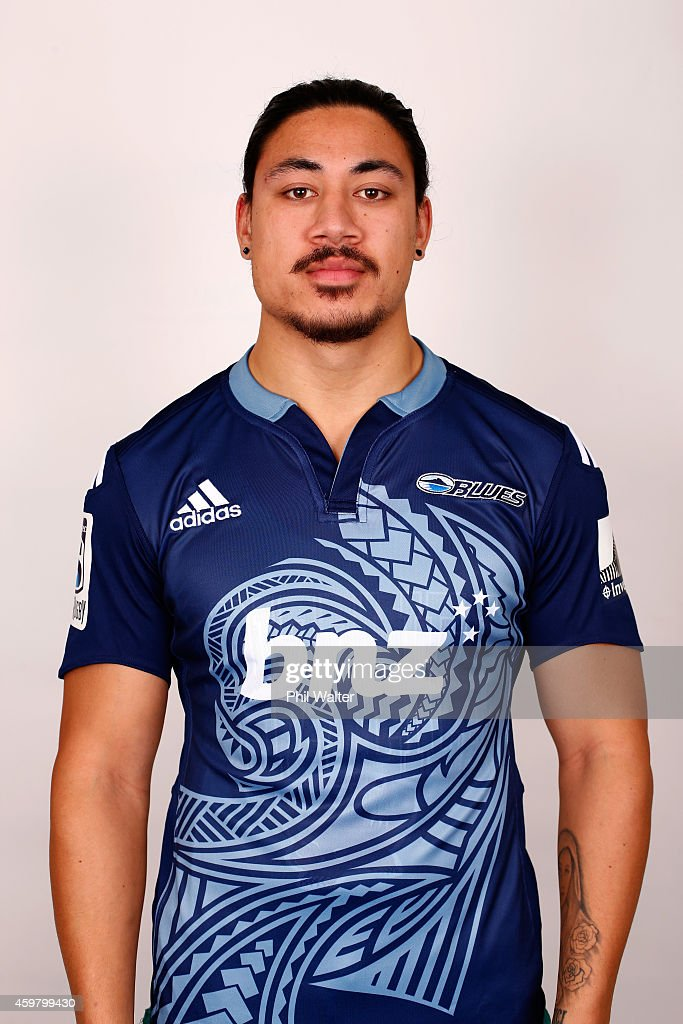 Ben Lam poses during an Auckland Blues Super Rugby headshots session at Unitec on December 2 2014 in Auckland New Zealand